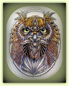 Ben Kwok owl template and my tangling fun! | Flickr - Photo Sharing!