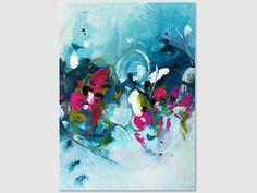Abstract painting by Svetlansa #painting #abstract #svetlansa #homedecor #pink  #blue #purple #artwork #wallart #abstractart #turquoise