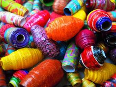 Summer time Paper beads