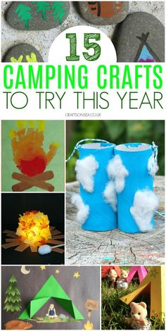 15 Fantastic Camping Crafts For Kids Love the great outdoors? Inspire your kids imagination with these fun camping crafts for kids, easy ideas they'll love including campfire crafts, tents, lanterns and more. Summer Camp Themes, Camping Activities For Kids, Camping With Toddlers, Summer Crafts For Kids, Summer Camps, Suv Camping, Camping Diy, Retro Camping, Camping Coffee