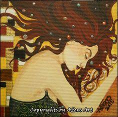 MINIATURE ANITA Mixed media on canvas: 10 x 10 cm