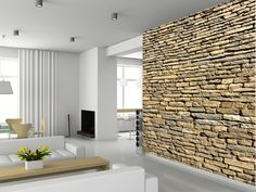 Stone Wall - Sandstone wall mural living room preview