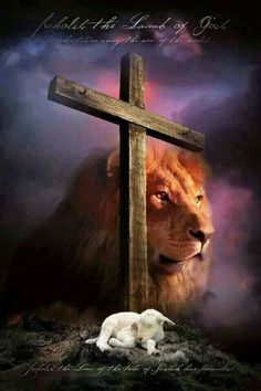 Encouraging message on this Jesus poster: The names of Jesus Christ tell us who He is, what He does and what He means to us. This Christian poster shows. NAMES OF JESUS CHRIST - Christian Religious Poster Lion And Lamb, Tribe Of Judah, Jesus Christus, Saint Esprit, Prophetic Art, Biblical Art, Jesus Pictures, King Of Kings, God Jesus