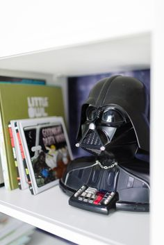 Tiffani's husband Brady's Star Wars phone was the primary inspiration for the room's decor.