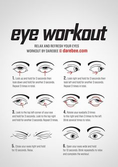 These eye exercises will help boost eyesight, range as well as reduce fatigue and tension Also helps to improve visual problems such as nearsightedness, eyestrain, farsightedness, tension headache etc - health-fitness Fitness Workouts, Quick Workouts, Easy Fitness, Fitness Sport, Darebee, Healthy Eyes, Healthy Habits, Face Yoga, Facial Exercises