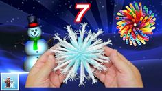 How to Reuse Drinking Straws and Make Snowflakes - 7 Art and Craft Ideas...