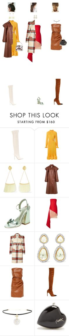 """""""Feb. 20, 2018"""" by chocohearts08 ❤ liked on Polyvore featuring Gianvito Rossi, TIBI, Cornelia Webb, Prada, Calvin Klein 205W39NYC, Ivy Kirzhner, Dion Lee, Vivienne Westwood, Amrapali and Givenchy"""