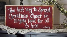 hand painted wood sign with a Christmas saying by handmadebysandyo, $16.99