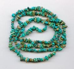 Real Turquoise Loose Pebble Chip Beads Craft or Jewelery Grade A