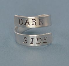 Dark Side Wrap Ring  Star Wars by SilverStatements on Etsy, $10.00