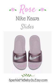 455aafa57 Nike Slide Women s - Rose Pink- NEW Custom Slides - Nike Sandals - Bling  Sandals - Bedazzled Swarovs