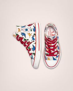 866a29543a Chuck Taylor All Star Dinoverse High Top White/Enamel Red/Totally Blue  Converse All