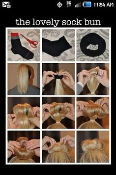 Gonna try this. I have always done sock buns a different way, and they look great. This wag looks much easier and faster