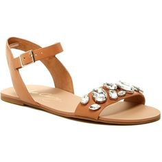 a8f102c19 Arturo Chiang Zola Strap Flat Sandal ( 47) ❤ liked on Polyvore featuring  shoes