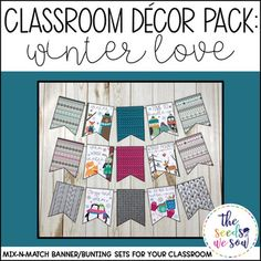 Do you have a space on your classroom wall or door where you need that perfect piece of seasonal or holiday decor? Look no further! This Winter Love Banner Pack has got you covered. Its fun and fresh design will bring the perfect wintry touch to your
