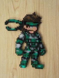 Solid Snake pixel art