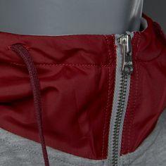 Converse Woven Detail 1/2 Zip Popover Hoodie - Vintage Grey Heather