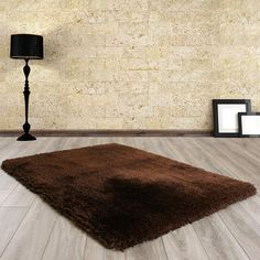 Ultimate Rug Mayfair Chocolate Shaggy Rug by HMC Shaggy Rug, Hand Weaving, Chocolate, Rugs, Luxury, Eco Friendly, Adobe, Corner, Sparkle