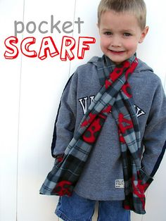 Fantastic Free Sewing projects for boys Ideas Best Sewing Projects to Make For Boys - Pocket Scarf - Creative Sewing Tutorials for Baby Kids and Fleece Crafts, Fleece Projects, Sewing Projects For Beginners, Sewing Tutorials, Sewing Crafts, Sewing Patterns, Sewing Tips, Diy Projects, Sewing Ideas
