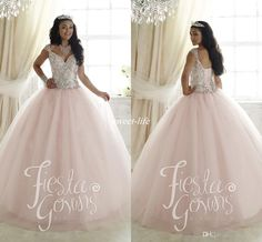 Elegant 2016 Sweet 16 Party Quinceanera Dresses Pale Pink Ball Gown Tulle Crystals Cap Sleeves Cheap Plus Size Girls Debutante Prom Dresses Online with $122.74/Piece on Sweet-life's Store | DHgate.com