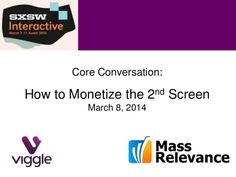 How to Monetize the 2nd Screen. SXSW Presentation by Viggle and Mass Relevance.