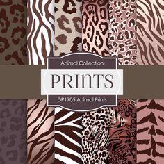 Animal Prints Digital Paper DP1705 - Digital Paper Shop - 1