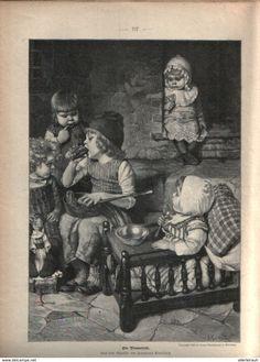 Ein Nimmersatt /Druck, Entnommen Aus Zeitschrift/1896 - Bücher, Zeitschriften, Comics