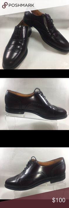 Cole Haan City Cordvan Wing Tip Lace Up Oxfords Very Good Condition Some Normal Wear Including Scuffing & Sole Wear See Pictures. Cole Haan City Cordovan Wing Tip Lace Up Oxfords Size 10.5 D Shoe 216 Cole Haan Shoes Oxfords & Derbys
