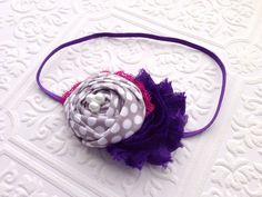 The Polka Plum Perfection Headband or Hair Clip on Etsy, $12.99
