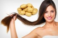 how to grow hair faster - potato juice