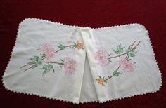 VENTA: Mesa Vintage Runner algodón flores por VintageLinenGallery