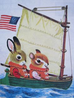 L is for Lake | Illustration taken from Chipmunk's ABC, by R… | Flickr