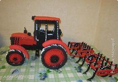 Поделка изделие Оригами китайское модульное Трактор Бумага фото 1