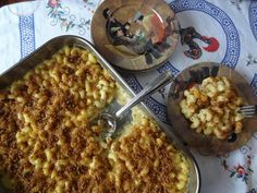 Macaroni & Cheese with Portuguese Chourica Breadcrumb Crumble!