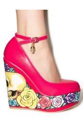 Calavera Rose Wedges