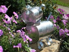 tin man for the garden | Garden Art - Tin Can Dog