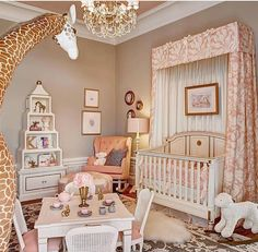 How adorable is this nursery furniture from AFK Furniture (designed by Kristin Ashley Interiors)