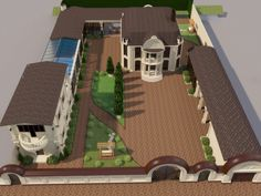 backyard designs – Gardening Ideas, Tips & Techniques Home Design Floor Plans, Garden Design Plans, Plan Design, Design Ideas, Village House Design, Bungalow House Design, Garden Architecture, Architecture Plan, Sims