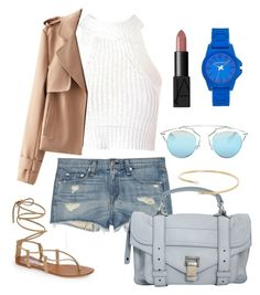 """Blushing blues"" by elesacksm on Polyvore featuring Steve Madden, rag & bone, Proenza Schouler, Christian Dior, Vince Camuto, River Island, Glamorous and NARS Cosmetics"