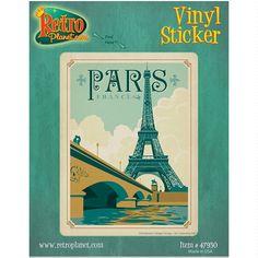 Eiffel Tower and Seine Paris France Travel by RetroPlanetUSA