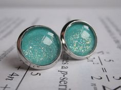 Hey, I found this really awesome Etsy listing at https://www.etsy.com/listing/175438947/turquoise-earring-studs-science-jewelry