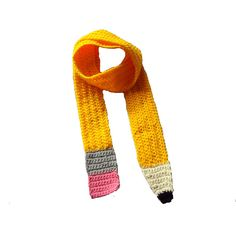 Talk about the perfect teacher gift!    Bright Yellow Pencil Scarf by ToxicLove on Etsy
