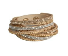 Gold metallic leather wrap bracelet - Shop our collection of wrap around bracelets. Buy any 3 items, get 15% off. Free UK Delivery