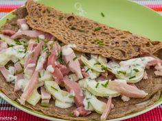Recette Plat : Galettes au jambon et au concombre par Kilometre-0