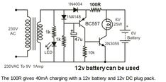 led emergency light circuit with battery overcharge protection - Google Search