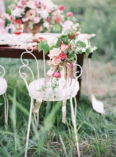 Sweet+Floral+Chair+Decor+for+a+Vintage+Sweetheart+Table+|+Emily+Jane+Photography+|+Summer+Berry+Boho+Wedding+Shoot