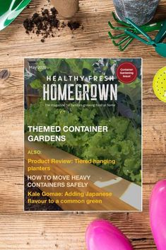 Get the May issue of the Healthy Fresh Homegrown Magazine,the magazine for families growing food at home. Filled with useful tips for container gardening! #containergardening #gardenmagazine Balcony Gardening, Gardening Books, Container Gardening, Planting Vegetables, Growing Vegetables, Vegetable Garden, Railing Planters, Backyard Layout, Plant Labels