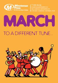 In the month of 'March' to a different tune...