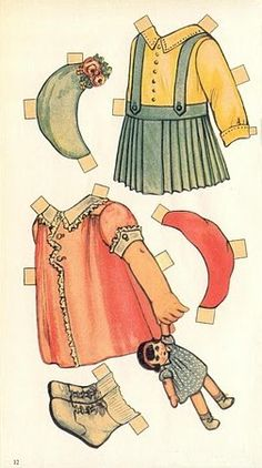 DAVY AND DOROTHY Cut-out Dolls by Queen Holden - 1938 Whitman Big Paper Doll #951