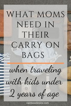 , Carry on essentials for moms traveling with kids , When moms have to travel with little kids, a toddler and an infant or two under 3 years of age, they have to pack smartly keeping kids needs in mind w. Carry On Bag Essentials, Hospital Bag Essentials, Travel Essentials, Newborn Essentials, Toddler Travel, Travel With Kids, Family Travel, Travel Tips With Toddlers, Family Vacations